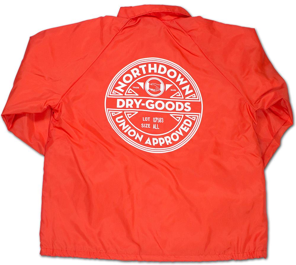 auction northdown drygoods orange coach jacket
